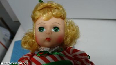 Madame Alexander 8 Inch 100348 Lil Christmas Candy Americana Series Ma Stand