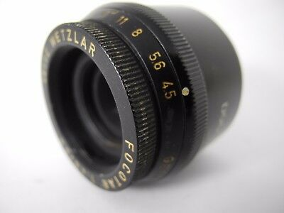 LEICA FOCOTAR 50mm 4.5 Enlarging lens DOOCQ NICE RESULTS  THIS LENS IS GREAT B&W