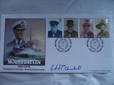 1989 Limited Edition MOUNTBATTEN Commemorative Cover signed by W S CHURCHILL MP