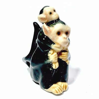 Miniature White-Headed Capuchin Monkey Statue Animal Figurine Collectibles Decor