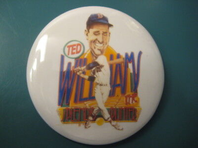 Vintage Ted Williams caricature button very rare