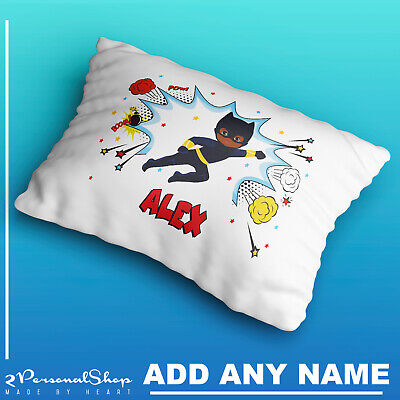 Personalised Children Superhero Pillowcase Printed Gift Custom Print New 107
