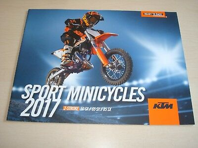 Ktm 50 Sx, 65 Sx, 85 Sx 2-Stroke Minicycles 2017 Sales Brochure New, Old Stock