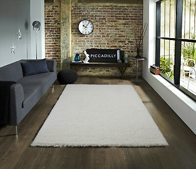 Modern Plain Design Small - Large Living Room Area Thick Soft Touch Shaggy Rug