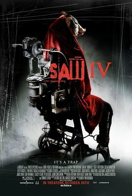 Saw IV Original Single-Sided One Sheet Rolled Movie Poster 27x40 NEW 2007