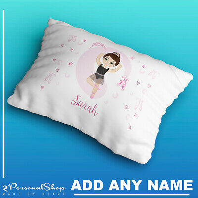 Personalised Children Ballerina Pillow Case Printed Gift Custom Print Made 101