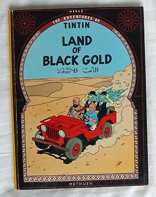 Tintin 1972 Land of Black Gold First Edition - good condition