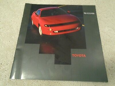 1990 Original Toyota Celica Showroom Advertising Sales Brochure