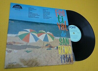 Festival de San Remo 1961 (EX/VG+) Spain press Fonit Iberofon  Lp ç