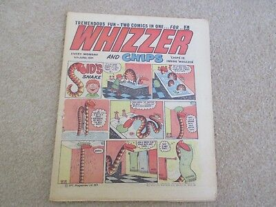 Whizzer And Chips Comic, June 5th 1971- Good Condition