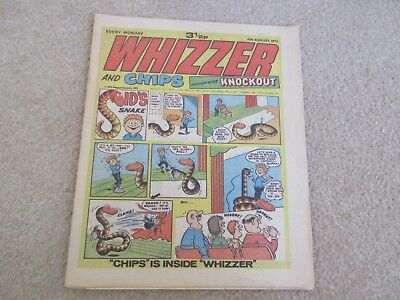 Whizzer And Chips Comic, August 11th 1973- Good Condition