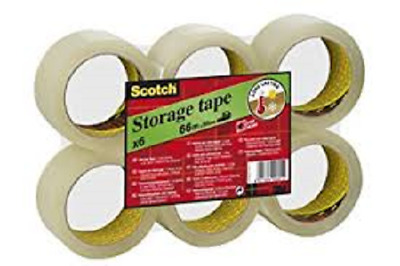 3M Scotch Ruban adhésif d'emballage 305, PP, 50 mm x 66 m, transparent