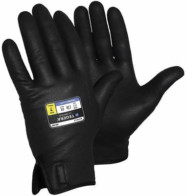 TEGERA 882 Black Fully Coated Waterproof Premium Nitrile Builders Work Gloves