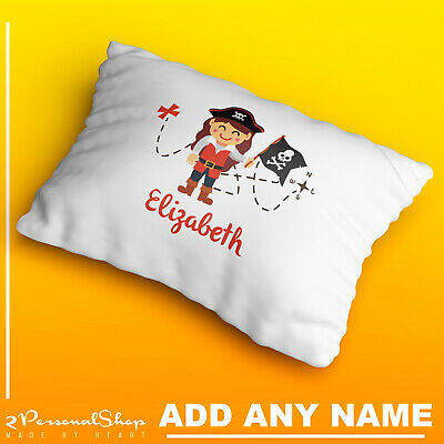Personalised Children Pirate Pillowcase Printed Gift Custom Print Made 103