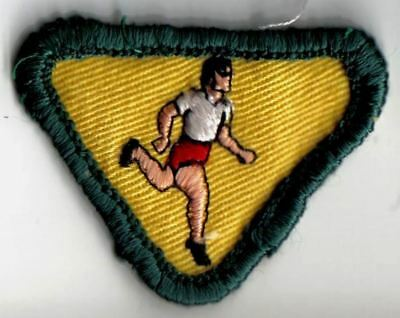 Girl Guide Scout Running Patch 1970s