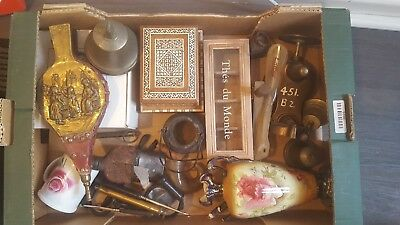Antique Brass items Some Genuine Antiques, Musical Box, Bellows, Bells ,Car Boot