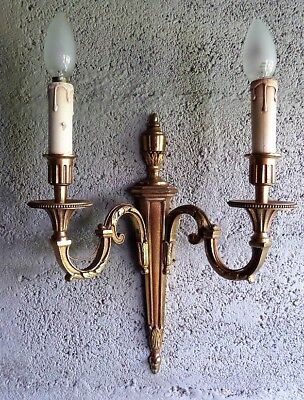 Large Vintage French Gilded Bronze Sconce  Directoire Rococo Style