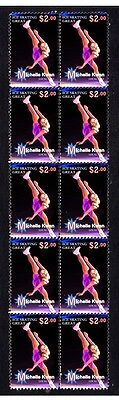 Michelle Kwan Ice Skating Great Strip Of Mint Stamps 2