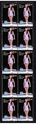 Michelle Kwan Ice Skating Great Strip Of Mint Stamps 1