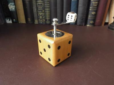 Vintage French Wooden Dice Shape Pepper Mill - Vintage Pepper Grinder