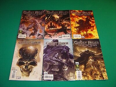 Ghost Rider: Trail of Tears 1-6 (2007) VF/NM 9.0 Complete Set Marvel