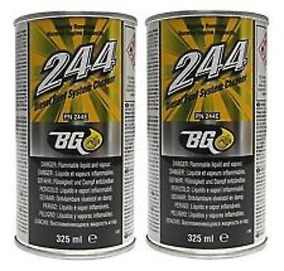 BG Products Genuine BG244 BG 244 Diesel Fuel System & Injector Cleaner x2 Cans