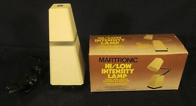 Vintage Martronic HI/LOW Intensity Lamp Mid-Century Space Age Design Pyramid Box