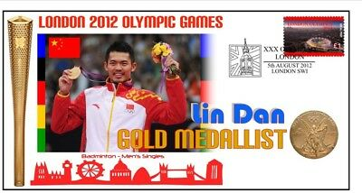 Lin Dan 2012 Olympic China Badminton Gold Medal Cover