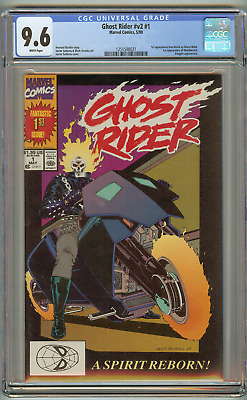 Ghost Rider #1  (CGC 9.6 NM+ White) 1990 Marvel Comics 1st appearance Deathwatch