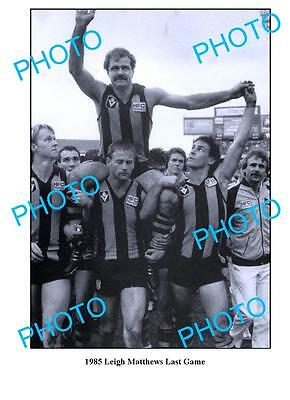 Leigh Matthews Hawthorn Fc '85 Last Game Large A3 Photo