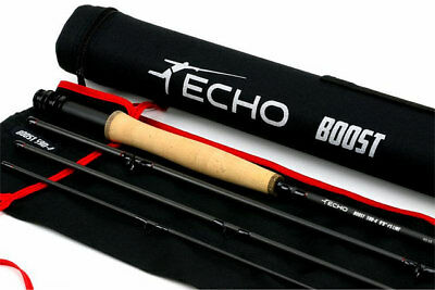 """SHIPPING TUBE ECHO CARBON XL 484-4 8/'4/"""" FOOT #4 WEIGHT 4 PC FLY ROD FREE U.S"""