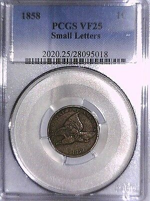 1858 Flying Eagle Cent PCGS VF 25 Small Letters 28095018