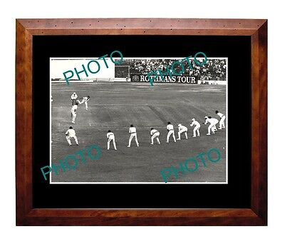 DENNIS LILLE AUSTRALIAN CRICKET LEGEND LARGE A3 PHOTO, 9 man slip