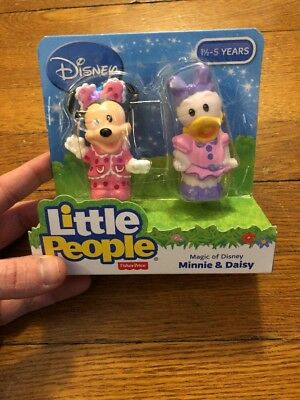 Fisher-Price Little People Magic of Disney Minnie & Daisy Buddy Pack, New