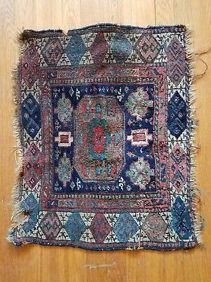 Extremely Old Rare Small Antique Rug Tapestry