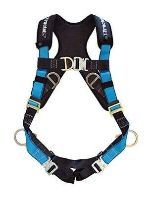 Tractel Small Fall Protection Construction Harness Auto Buckle Front Back D-Ring