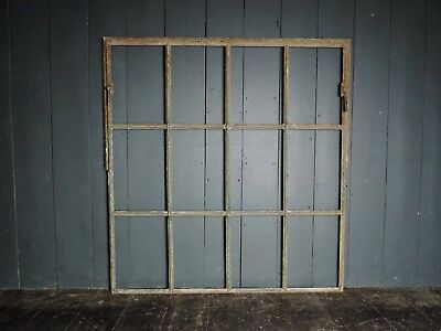 Reclaimed Antique Victorian Large Cast Iron Industrial Window (IW18)