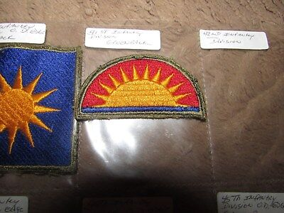 Original Wwii Original 41St Infantry Division Green Back Patch Philippines