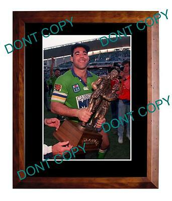 Mal Meninga Canberra Raiders Nswrl Premiership Win Large A3 Photo