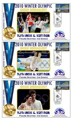 TESSA VIRTUE & SCOTT MOIR 2010 OLYMPIC SET OF GOLD COVs
