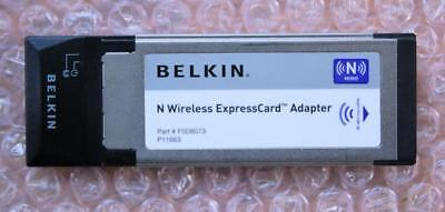 Belkin N Wireless ExpressCard Adapter F5D8073 ver. 3000x up to 300Mbps 802.11n