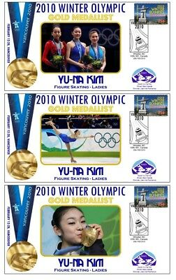 YU-NA KIM 2010 OLYMPIC FIGURE SKATING SET OF GOLD COVs