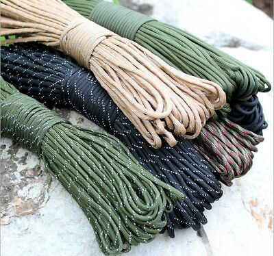 Free  25FT  550 Paracord Parachute Cord Lanyard Mil Spec Type III 7 Strand Core