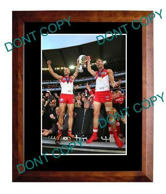 McVEIGH & BOLTON 2012 SYDNEY SWANS PREMIERS A3 PHOTO