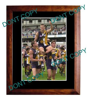 GLEN JAKOVICH WEST COAST EAGLES 250th GAME LARGE A3 PHOTO