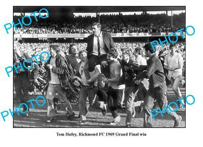 Tom Hafey Richmond Fc 1969 Grand Final Win A3 Photo