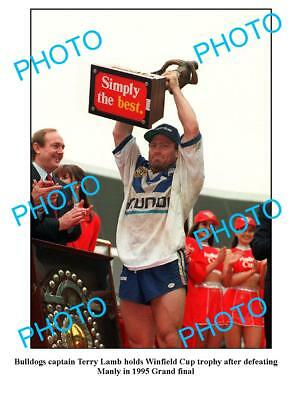 Terry Lamb Canterbury Bulldogs 1995 Premiers A3 Photo