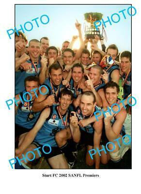 Sturt Fc 2002 Sanfl Premiership Win Large A3 Photo 3