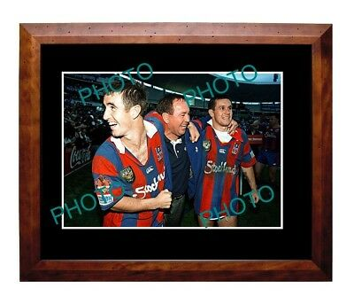 Andrew Johns, Gary & Matthew Newcastle Knights 1997 Premiers Win Large A3 Photo