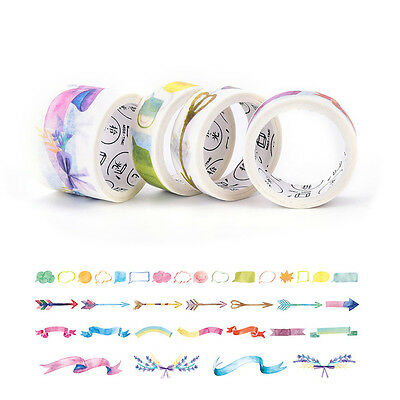 4Pcs Decorative Washi Tape DIY Scrapbooking Masking Tape School Office Supply、AU